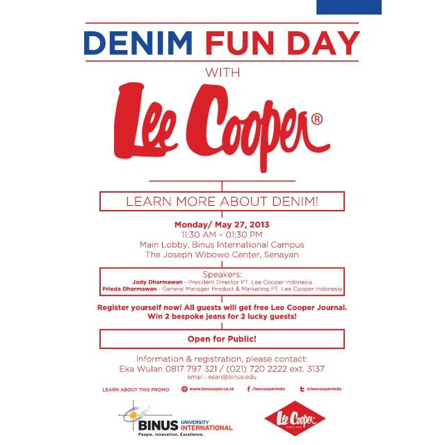 Denim Fun Day With Lee Cooper at BINUS INTERNATIONAL