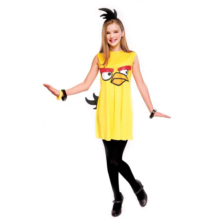 Rovio Angry Birds Yellow Bird Dress Tween Costume
