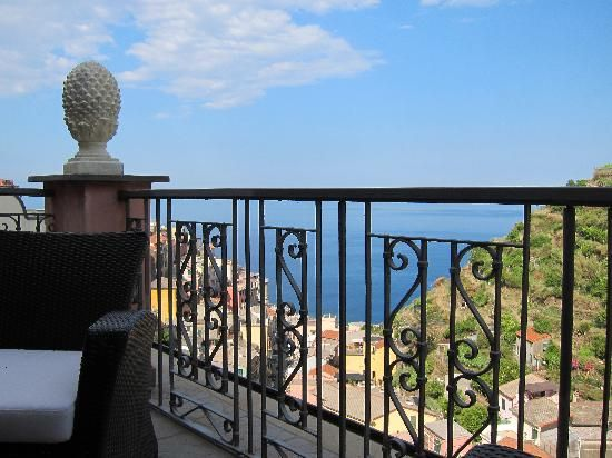 La Torretta: Views from our balcony in Manarola, Cinque Terre. One day I'll make it back there.