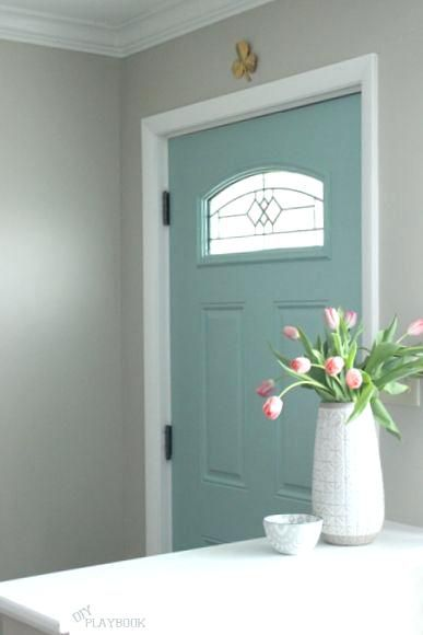 paint color for front door of gray house best practices for blue