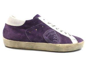 #Blauer #sneakers #camoscio #viola #uomo #zooode