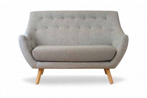 Two seater sofa, Grey single tone