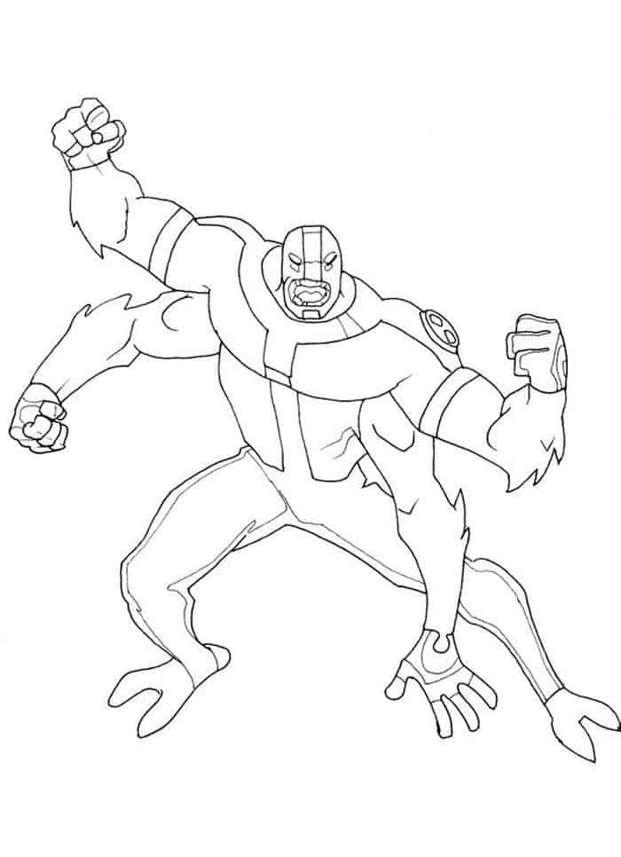 Four Arms Ben 10 Coloring Pages Cartoon Coloring Pages Ben 10 Coloring Pages