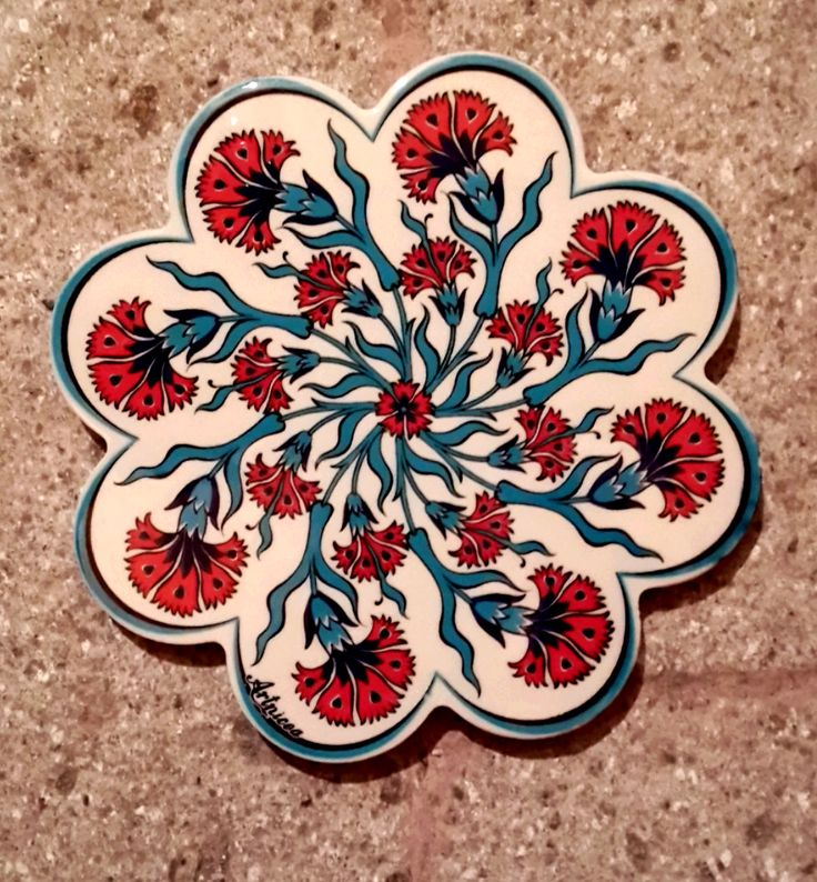 Hand Made Ceramic Trivet / Hot Plate / Ceramic Tile / by Turqu50