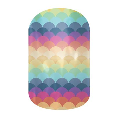 Candy Scallop Jamberry Nail Wraps - Buy Jamberry Nails. Not expensive, easy and fun, with no paint and no mess. Get yours today!