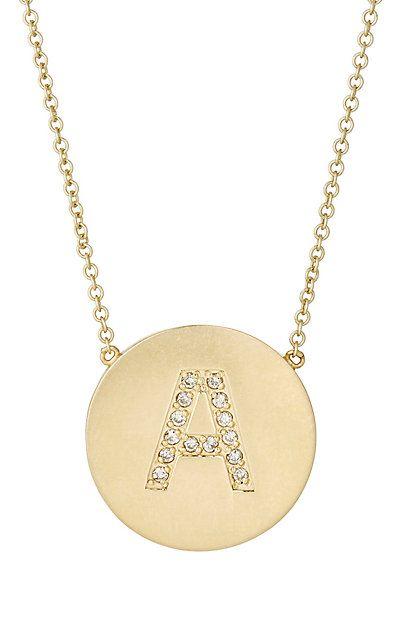 Jennifer Meyer Initial Pendant Necklace - Necklaces - 296031163