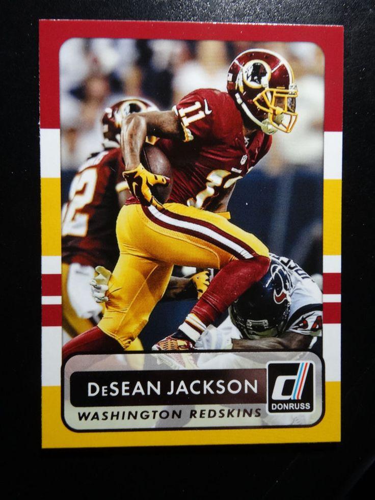 2015 Panini Donruss #90 DeSean Jackson Washington Redskins Card #WashingtonRedskins