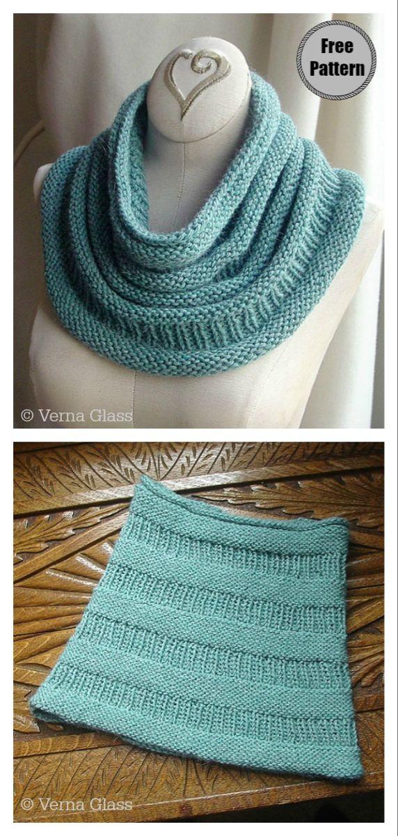 5 Simple Cowl Free Knitting Pattern   Cowl knitting ...