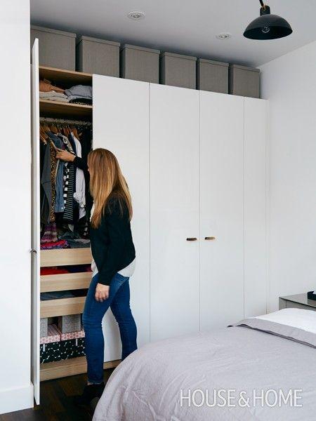 1000 ideas about ikea pax on pinterest pax wardrobe - Small closet door solutions ...