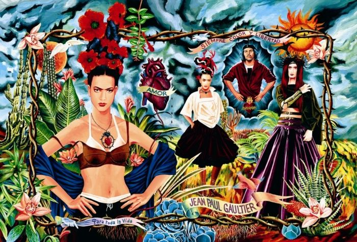 An ad campaign for the Tribute to Frida Kahlo collection in 1998, art directed and photographed by Gaultier.