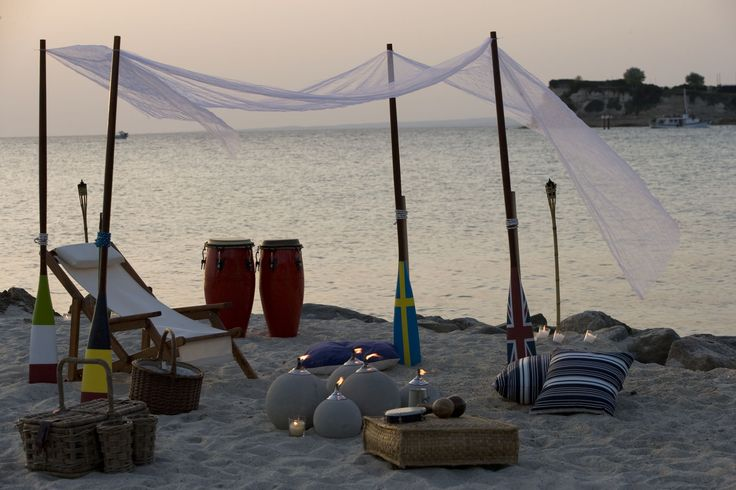 Summer feels incomplete without a proper beach party while the sun sets! - at Sani Beach Club.