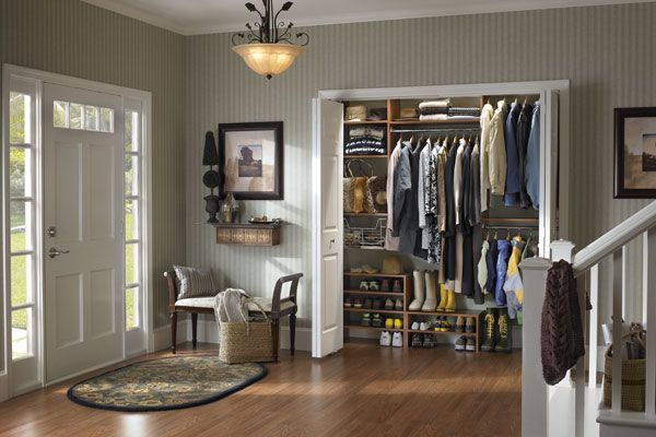 Reach in Entry Closet with tons of Shoe Storage