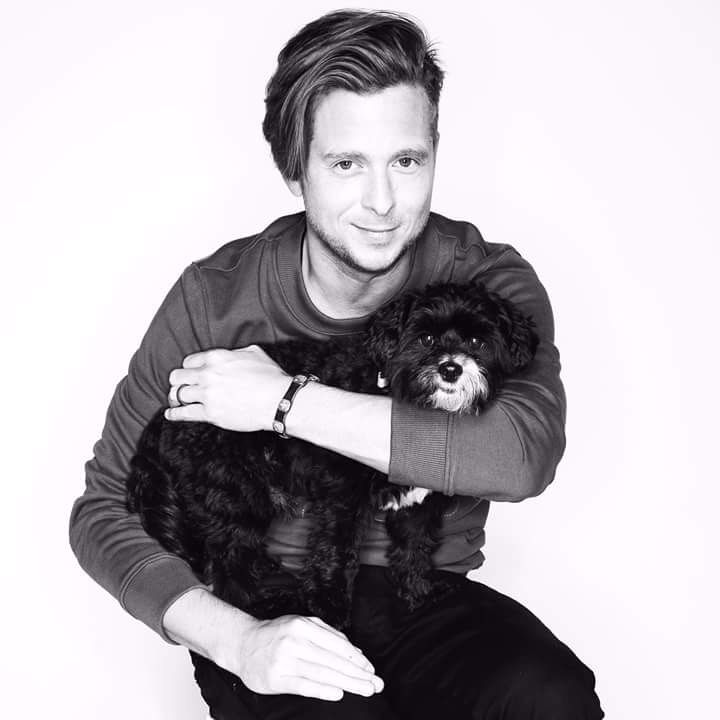 Ryan with a dog!!!! :D