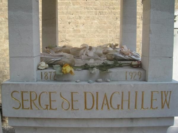 Diaghilev's grave at Isola di San Michele  Escaping the Crowd in Veniec
