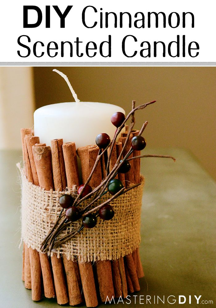 DIY Cinnamon Candle! Love Cinnamon... and this looks gorgeous! (Would make a great hostess gift!!)