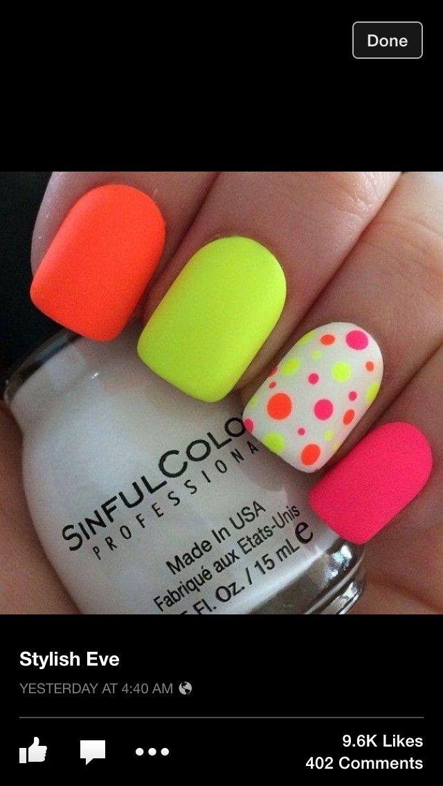 Cute Neon nails!!!