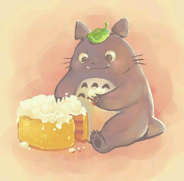 Totoro eating cake | Totoro | Pinterest | Cakes and Totoro