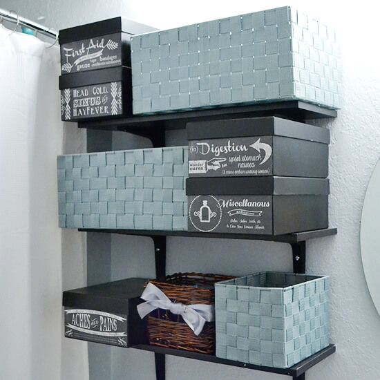 Photo Boxes Into Easy DIY Medicine Storage U0026 FREE Printables
