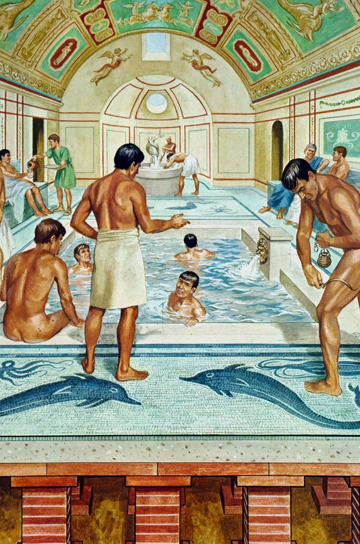 Anceint Roman public baths as would have been found in Pompeii or Herculaneum