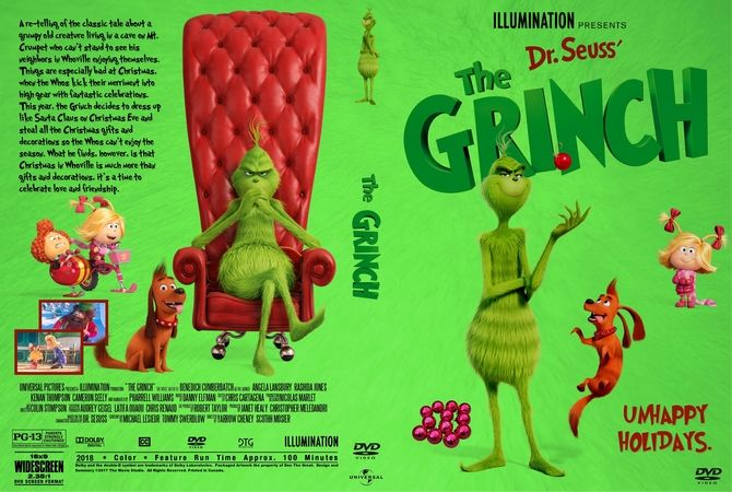 The Grinch 2018 Dvd Custom Cover Dvd Cover Design Custom Dvd Dvd Covers