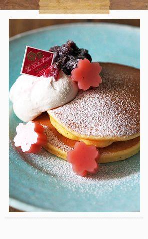 しっとりもっちり桜パンケーキプレート