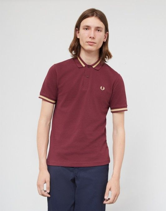 Fred Perry Made In England M2 Single Tipped Polo Shirt Burgundy #StyleMadeEasy