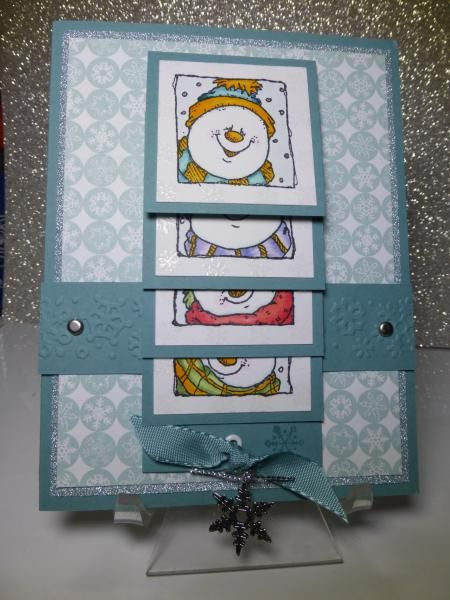 Waterfall Snowmen by uoc23 - Cards and Paper Crafts at Splitcoaststampers