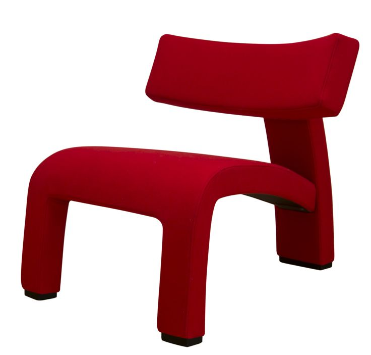 The Red Devil. Futuristic chair. Inspiration 2001: A Space Odyssey directed by Stanley Kubrick in 1968.