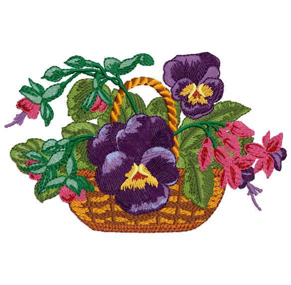 Flowers embroidery designs haft maszynowy