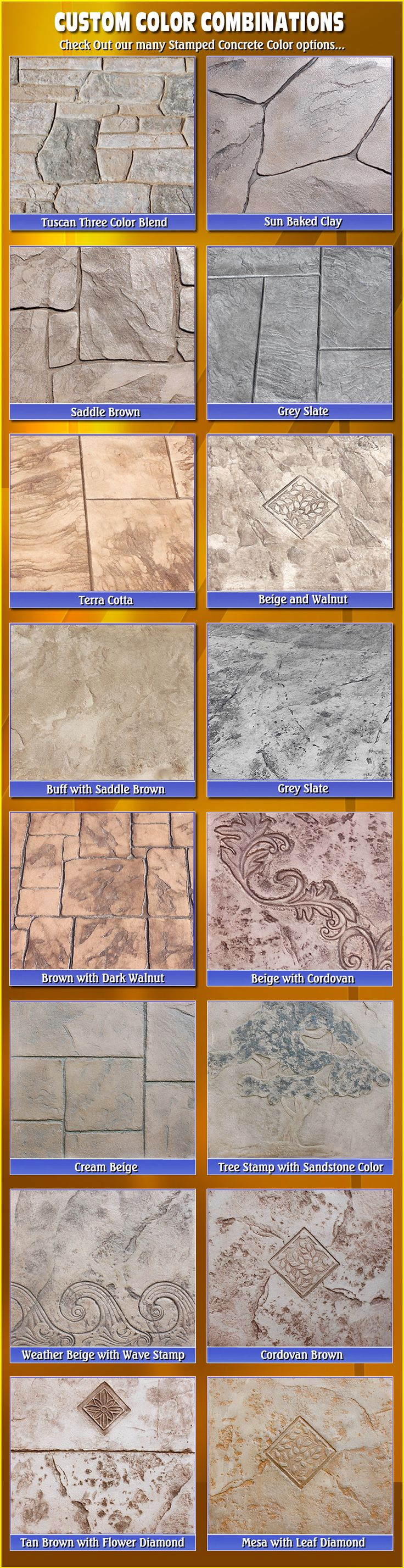 stamped concrete colors biondo cement macomb mi - Ciment Color Exterieur