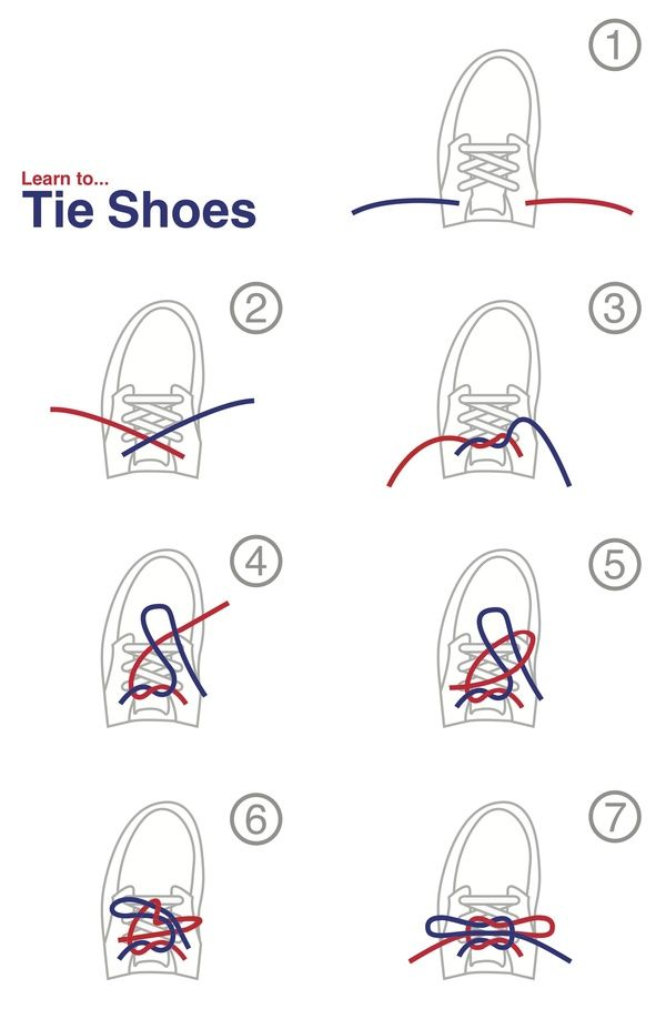 learn to tie shoes by tony canell via behance primary
