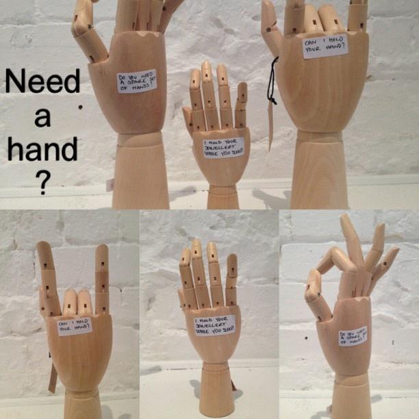 Do you need a hand? #hay #wood #danishdesign #hands