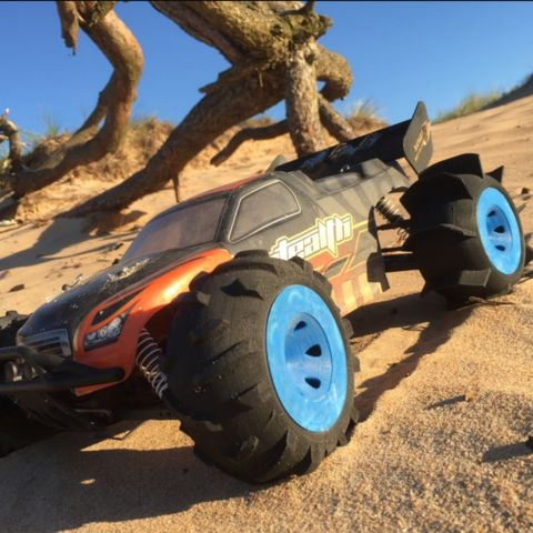 Download on https://cults3d.com #3Dprinting #Impression3D 3D Set of NoS (No Screws) RC-tires dedicated to OpenRC Truggy, Palmiga