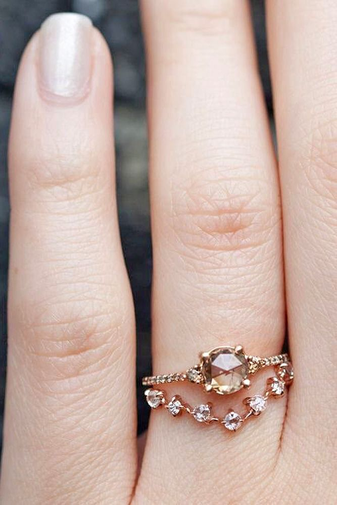 18 Rose Gold Engagement Rings That Melt Your Heart ❤ Rose gold engagement rings…