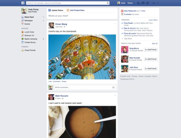 New Facebook redesign not interfering with advertising