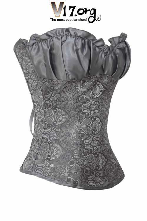 renaissance dresses | Plus Size Clothing / Plus Size Corsets / Gray Renaissance