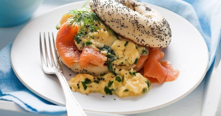 Add a mixture of your favourite herbs to these scrambled eggs, such as dill or basil.