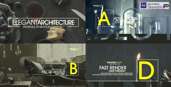 Videohive Elegant Architecture Promo 19170642 - Free Download Created15 December 16 After Effects VersionCC 2015, CC 2014, CC, CS6, CS5.5 Resolution1920x1080 File Size18mb
