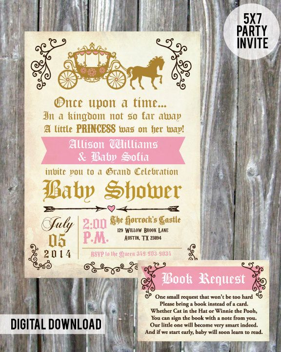 Once upon a time Princess Baby Shower by madewithlovebyalesha More