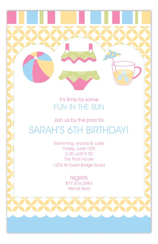25 best Ameliau0027s party images on Pinterest Events, Projects and - free birthday invitation templates for word