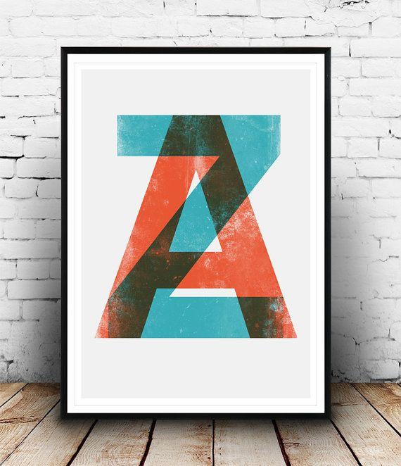 Imprimer des lettres impression de typographie par Wallzilla