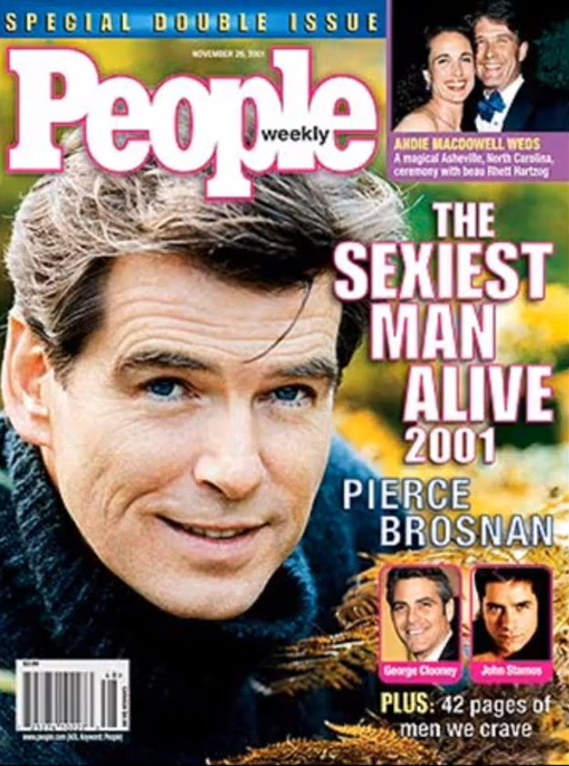 People magazine definitely got it right, Pierce Brosnan is the sexiest man alive!!<3