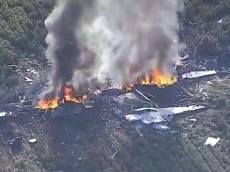 """16 people reportedly killed after military plane crash in Mississippi - 16people were reportedly killed after a KC-130 military refueling tanker crashed about 85 miles north of Jackson, Mississippi, on Monday afternoon, according to a WZTV report.  16 people were on the aircraft, according to Fred Randle, county emergency management director.  A Marine Corps spokesperson said that the aircraft """"experienced a mishap,"""" butprovided no details as of Monday evening, according to WZTV…"""