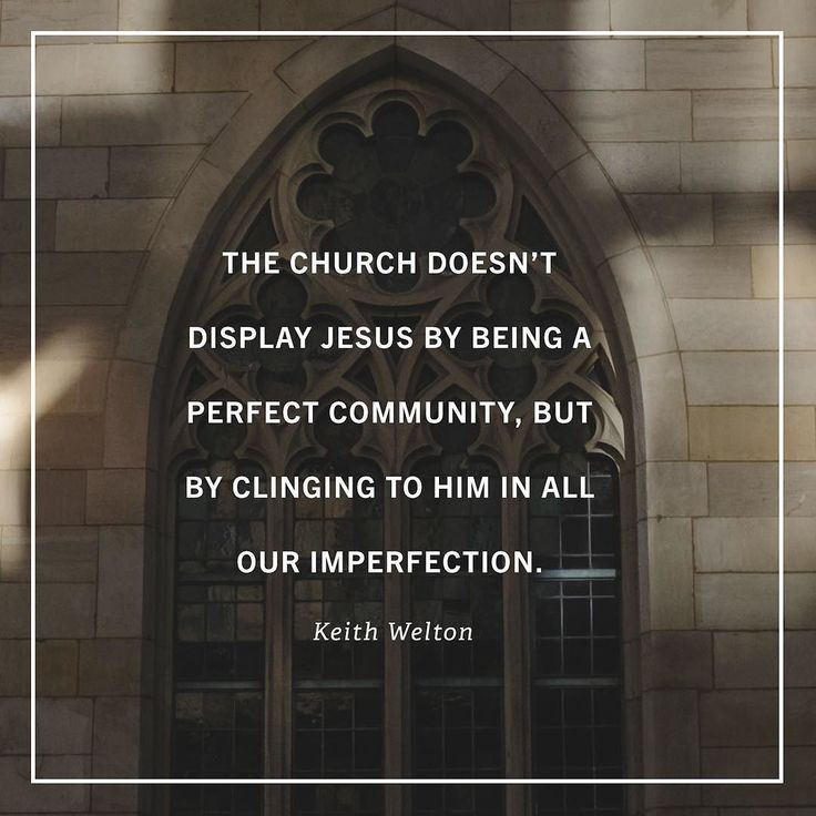"""The greatest and most important reason why I love the church is that God loves the church. Christ loves his bride his holy ones for whom he died to purchase them with his own blood (Acts 20:28; Ephesians 5:2223; Revelation 21:2 910; 22:17). If the one who had to die to make us holy is not ashamed to call us brothers how could we refuse to love those who are sinners like us (Hebrews 2:11)?  Gods plan to make his grace known to the world is not for a bunch of perfect people to live together…"