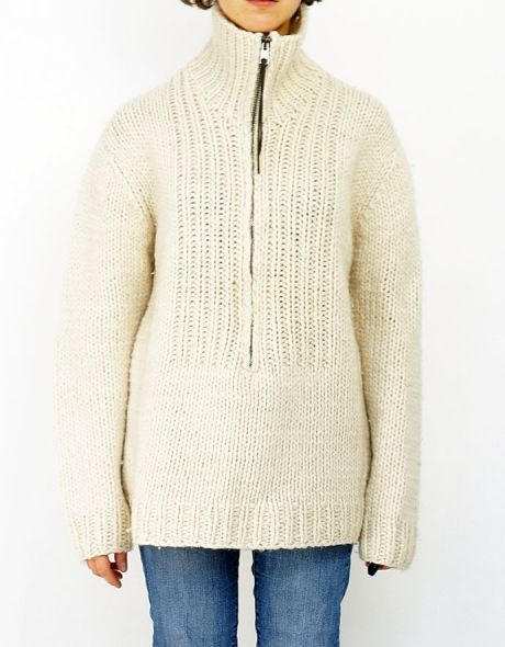 NICOLE FARHI - oversize, men style sweater - shop