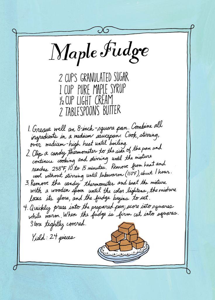 Maple Fudge Recipe