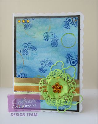 inkykitty: Cloud Flower Card #crafterscompanion #paperflowers