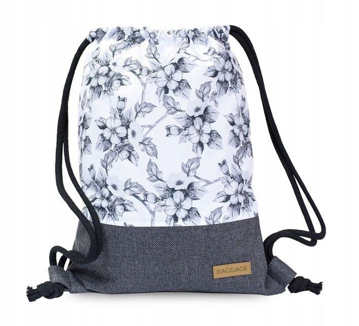 Plecak Worek Kwiaty Floral Torba Dzungla Tropical Baggage Plecaki I Torby