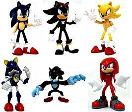 """Tomy Gacha Set of 6 Sonic the Hedgehog Buildable 2.5 Inch Mini Figures Sonic, Shadow, Werehog, Metal Sonic, Knuckles Super Sonic by Gacha / Tomy. $24.50. Tomy Gacha Set of 6 Sonic the Hedgehog Buildable 2.5 Inch Mini Figures [Sonic, Shadow, Werehog, Metal Sonic, Knuckles & Super Sonic] New! INCLUDES ALL 6 CHARACTER FIGURE TOYS. EACH FIGURE STANDS 2-3"""" DEPENDING ON THE CHARACTER. BRAND NEW SONIC THE HEDGEHOG BUILDABLE FIGURES. VERY HARD TO FIND! GREAT GIFT FOR ANY SON..."""