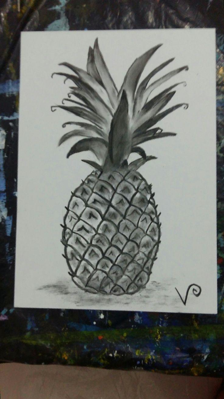 Fusain (Ananas)